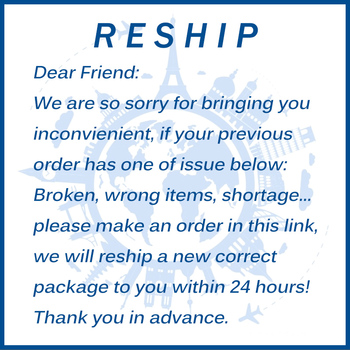 This link is for the customer who receive the defective order and needs us reship an new order image