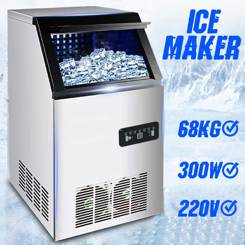 Efficient 68KG /24H 220V EU Plug Electric Automatic Cube Ice Maker Commercial Or Home Use Ice Making Machine 300W Ice Maker