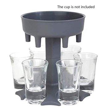 6 dozownik na kieliszek i uchwyt napełnianie płynów dozownik dozownik dozownik wielokrotny dozownik bez kubka tanie i dobre opinie CN (pochodzenie) Z tworzywa sztucznego 6 Shot Glass Dispenser (Without Cup)