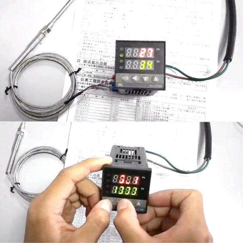 PID Digitale Temperatur Controller REX-C100 (M) 0 Zu 400 C K Typ Relais Ausgang