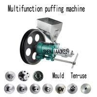 Puffed Corn rice Snacks Food Extruder machines/Multifunctional corn puff snack extruder machine 380V 1pc