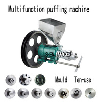 Puffed Corn rice Snacks Food Extruder machines/Multifunctional corn puff snack extruder machine 380V 1pc