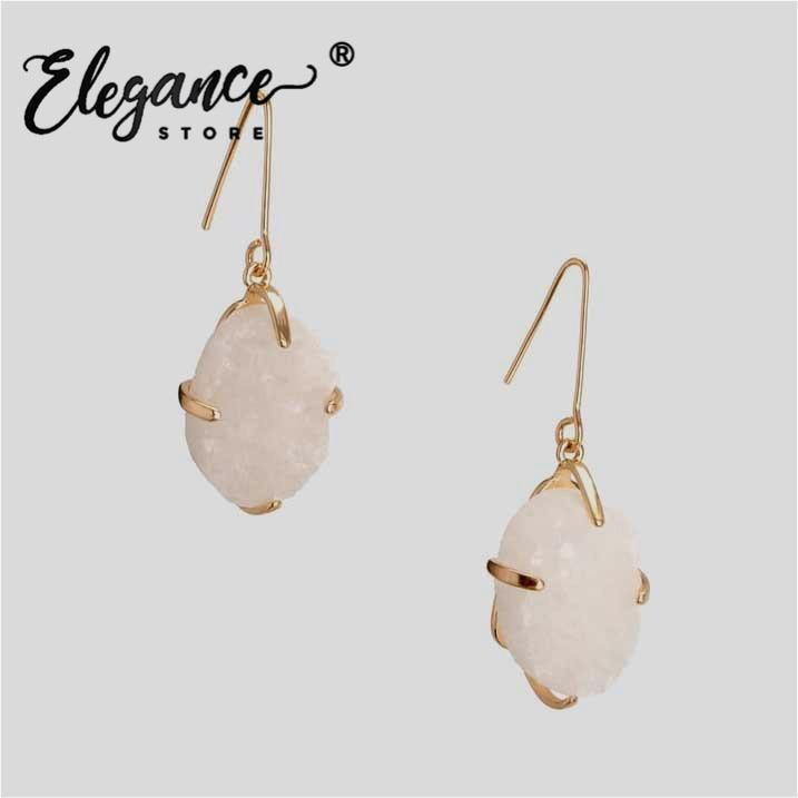 Elegance 2020 ZA Nature Stone Drop Earrings For Women Gold Color Bird Pendant Earrings Girls' Gift Summer Accessories Jewelry