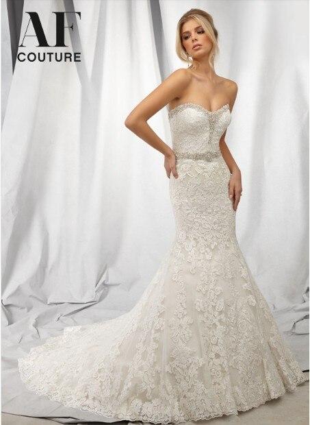 Bridal Gown Vestido De Noiva Casamento Romantic Free Shipping Bride 2016 New Fashionable Sexy Crystal Belt Lace Wedding Dresses