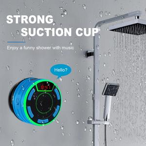 Image 2 - BassPal F013 Pro TWS Bluetooth Speakers IPX7 Waterproof Portable Wireless Shower Speaker with LED Display FM Radio Suction Cup