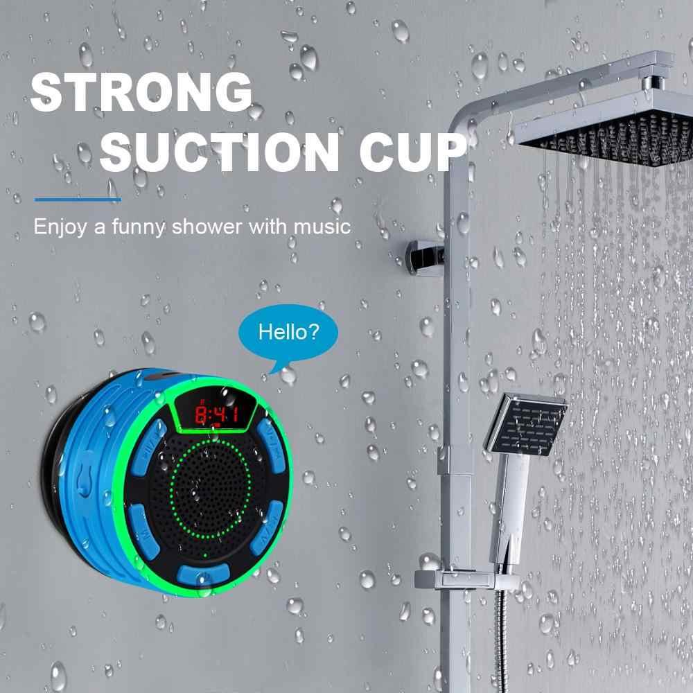 BassPal F013 برو TWS مكبرات صوت بخاصية البلوتوث IPX7 مقاوم للماء المحمولة سماعة لاسلكية مقاومة للماء مع شاشة LED راديو FM شفط كأس