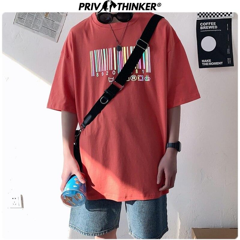 Privathinker Men Hip Hop Reflective T-shirts Man's Summer Short Sleeve TShirts Tees Male Unisex Clothing T Shirts 2020 S-3XL