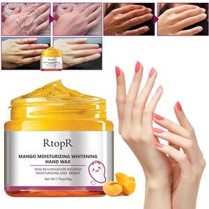 Mango Moisturizing Hand Mask Whitening Skin Hand Mask Repair Exfoliating Calluses Film Anti-Aging Hand Skin Cream 50g TSLM2