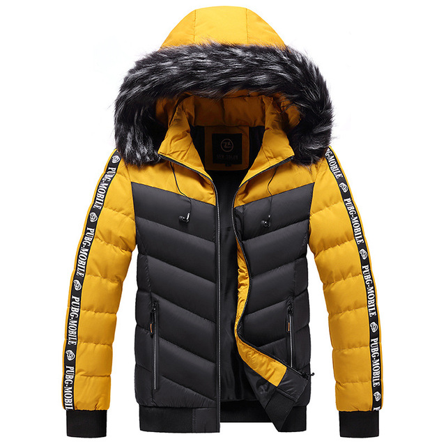 Winter Jacket Men 2021 Fur Collar Hooded Thick Warm Cotton Outwear Man Patchwork Parka and Coats Windbreaker Parkas Male M-5XL 6