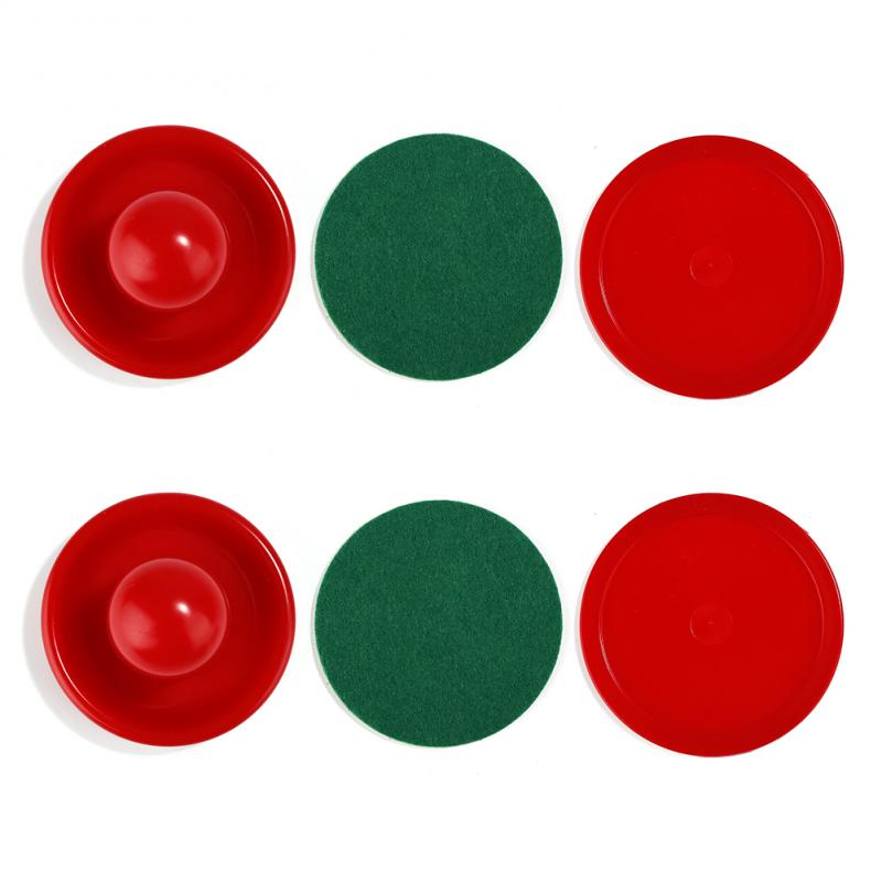 2PCS Air Hockey Table Goalies Game 60mm/64mm Plastic Mallet Pusher Party Home Travel Air Hockey Pusher Accessories