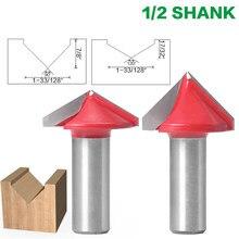 12.7 millimetri Shank V Groove Bit Punte del Router di Legno di CNC Fresa in metallo duro 3D 90 120 Gradi di Tungsteno Lavorazione Del Legno fresa