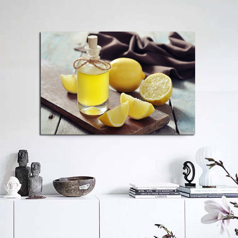 Fruit Colorful Lemon Art Pictures Realist Poster Print Wall Art Canvas Painting For Home Kitchen Decoration