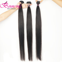 Bouncing Hair 32 34 36 38 40 50 Inches Straight 3 Bundles Long Inch Hair Weft Brazilian Remy Hair Extension For Women Hair Weave