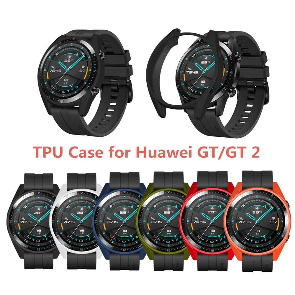 Smart Watch Case For Huawei Watch GT/GT2 46mm TPU Soft Protective Case For Huawei GT/GT2 All-Around Watch Shell Accessories