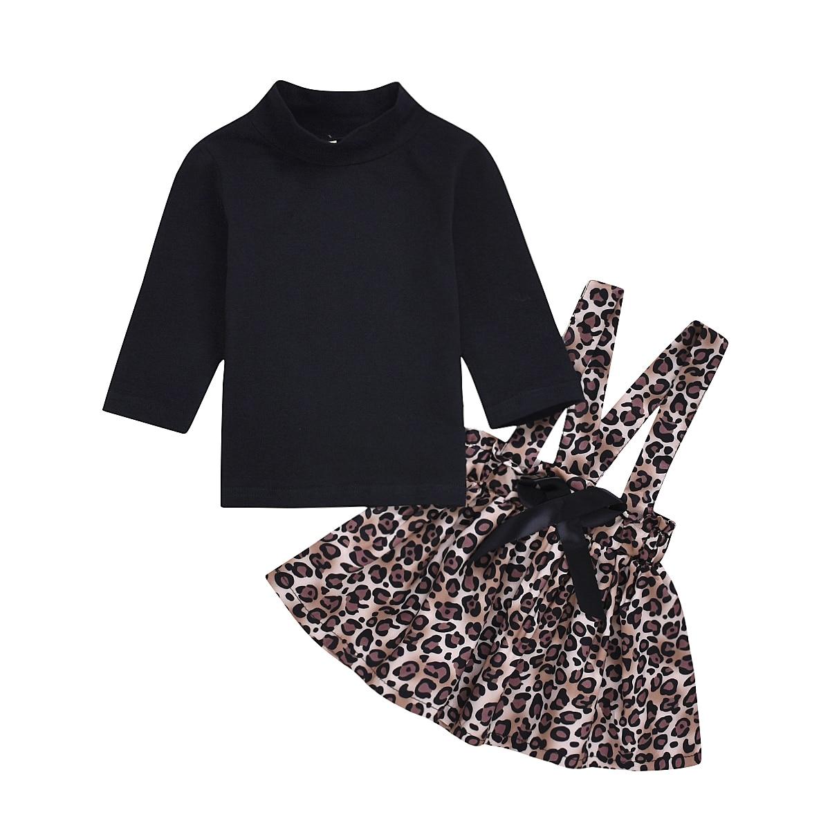 0-4T Neugeborenen Kleinkind Kind Baby Mädchen Kleidung Set T-Shirts Tops Rock Kleid Herbst Winter Kleidung