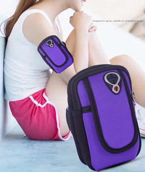 Saszetka do biegania opaska na ramię bezpieczeństwo siłownia Jogging torby z kieszonką saszetka ćwiczenia na świeżym powietrzu torba do biegania akcesoria sportowe akcesoria Fitness tanie i dobre opinie AsUWish NYLON Unisex Armband Bag