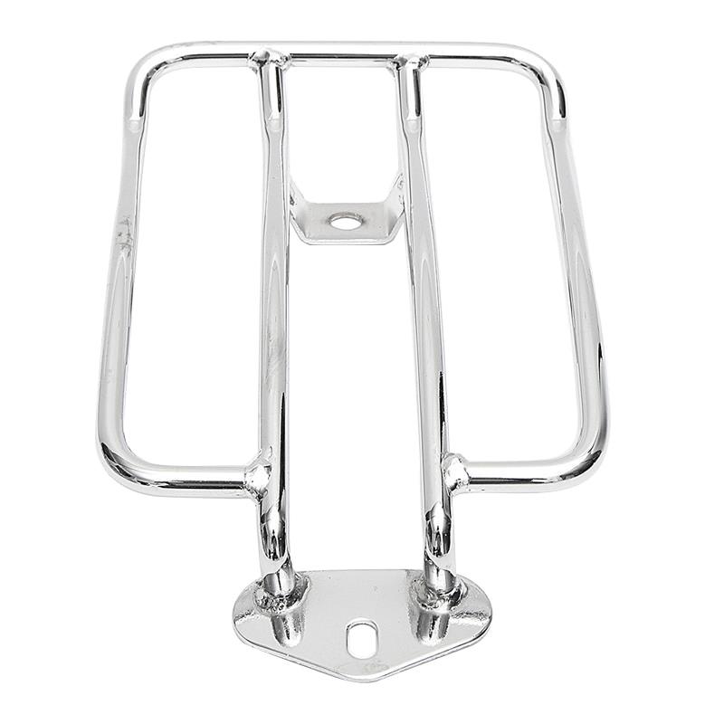 ABFU-Motorcycle Luggage Rack Backrest For Sportster Xl 883 Xl1200 X48(Chrome)