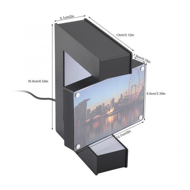 Electronic LED Magnetic Levitation Photo Frame Floating Photo Frame Novelty Gift Photo Frame Home Office Decor Wedding Gift 2