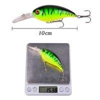 1Pcs Crank Fishing Lure Bait Wobbler 14g 10cm Minnow Isca Artificial Lures Crankbait Leurre de Bass Pike Trolling Pesca Tackle