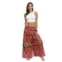 Trousers Pakistan-Clothing India Printed Casual Yoga Women Leg-Pants Aladdin Boho Gypsy