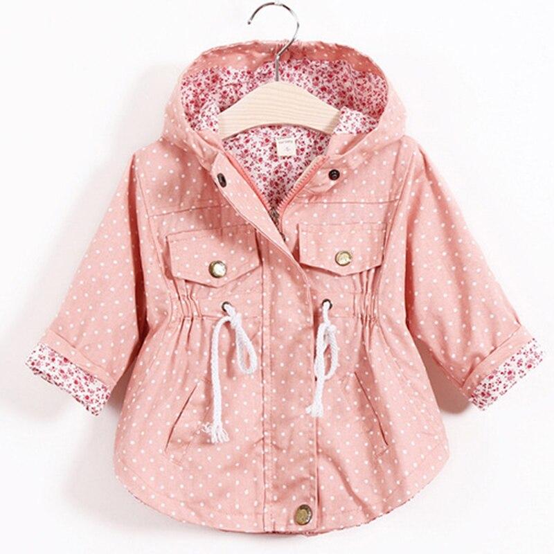 meninas blusao trench primavera outono casaco bebe criancas flor algodao doce com capuz outwear bebe criancas