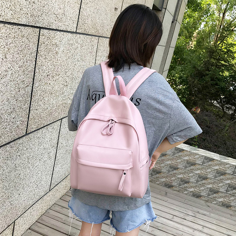 Image 2 - College Leather Backpack Women Multi Pocket Big Travel Backpacks Female School Bag for Teenage Girls Book Mochilas XA503H-in Backpacks from Luggage & Bags