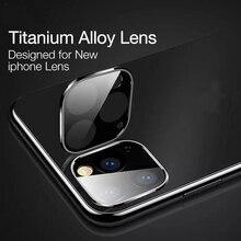 חזור מצלמה עדשת טיטניום סגסוגת מזג זכוכית עבור iPhone Xi Xi מקס xir סרט פיצוץ הוכחה עבור iPhone 11 11 פרו מקס זכוכית