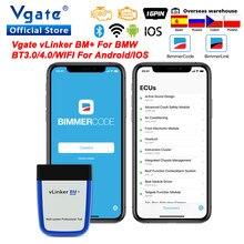 Obd2 vgate vlinker bm + elm327 v2.2 para bmw scanner bluetooth 4.0 wifi obd 2 carro diagnóstico elm 327 ferramenta de automóvel para bmw bimmercode