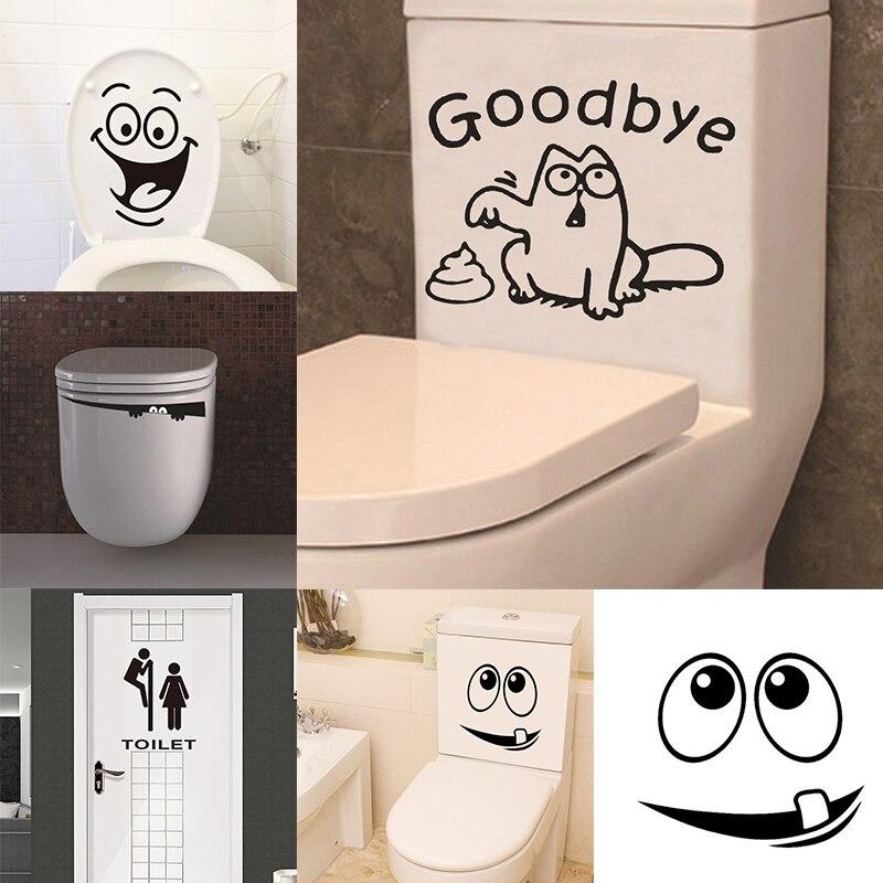 Waterproof Stickers For Creative Funny Bathroom Decoration Bathroom Toilet Decoration Home Decor