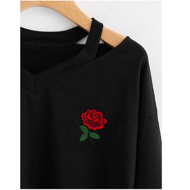 2020 nuovo Pullover Con Cappuccio delle Donne di Modo Casuale A Doppia Altezza Rosa Felpa con Stampa A Maniche Lunghe Con Scollo A V Crop Corto Supera il Commercio All'ingrosso