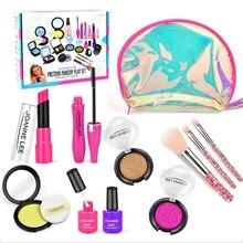 1 Set Girls Make Up Toy Set Pretend Play Princess Pink Makeup Beauty Safety Non-toxic L41D