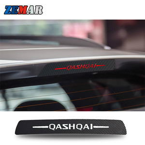 Image 1 - Car Stickers High Brake Light Decoration Black Carbon Fiber Decals For Nissan 2015 2016 2017 2018 Qashqai J11 Accessories