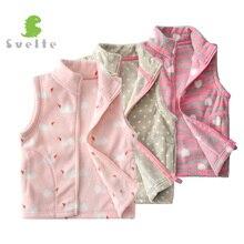 SVELTE/милый флисовый жилет для девочек от 2 до 7 лет детский шерстяной меховой жилет Vetement Enfant Gilet Veste, весна, осень, зима