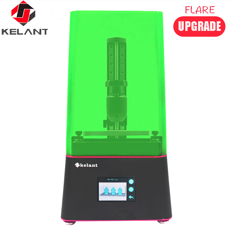 Impressora de SLA 3D Kelant Alargamento Pro dental jóias metal edition2560 * 1440 Resina UV Luz de Cura-3.5 ''405nm tela de LCD DLP 3d impressoras