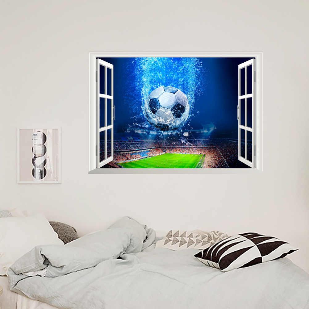Estanque de peces 3D Piso Pegatina Mural Calcomanía Vinilo Extraíbles Decoración del hogar ~ jo
