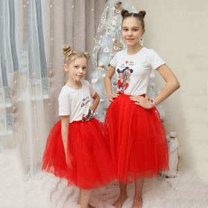 Image 4 - 7Layered 50cm Tutu Tulle Skirts Womens High Waist Swing Dolly Ball Gown Underskirt Mesh Summer Midi Skirt Faldas Saias Jupe