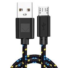 Kabel nylonowy z oplotem Micro USB synchronizacja danych typ C kable ładowarki do Samsung Huawei Xiaomi Oneplus telefon komórkowy Typec USBC 1M 2M 3M