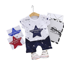 Brand New Baby Clothing Sets Summer Boys Clothes Suit Letter Star Print TShirt +Pants 2pcs for 6M-3T