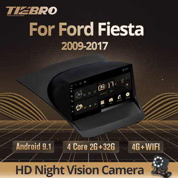 TIEBRO 2DIN Android 9.0 Car Radio For Ford Fiesta 2009-2017 Car Multimedia Player Navigation GPS Car DVD Player No 2 Din Player image