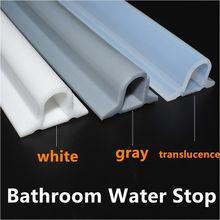 1m/2m/3m forma d tira de parada de água do banheiro piso barra de retenção de água cozinha transparente silicone adesivo vedação tira