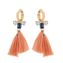 Tassel Earrings Long Fashion Alloy Hollow Earrings European and American Hot Selling Handmade Thread Elegant Ear Jewelry 2019 real time limited aretes tassel earrings oorbellen european and american christmas jewelry lovely for apple long ear