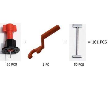 101pcs tool Resuable Anti-Lippage Locator Tool Ceramic brick Floor and Wall tile leveling