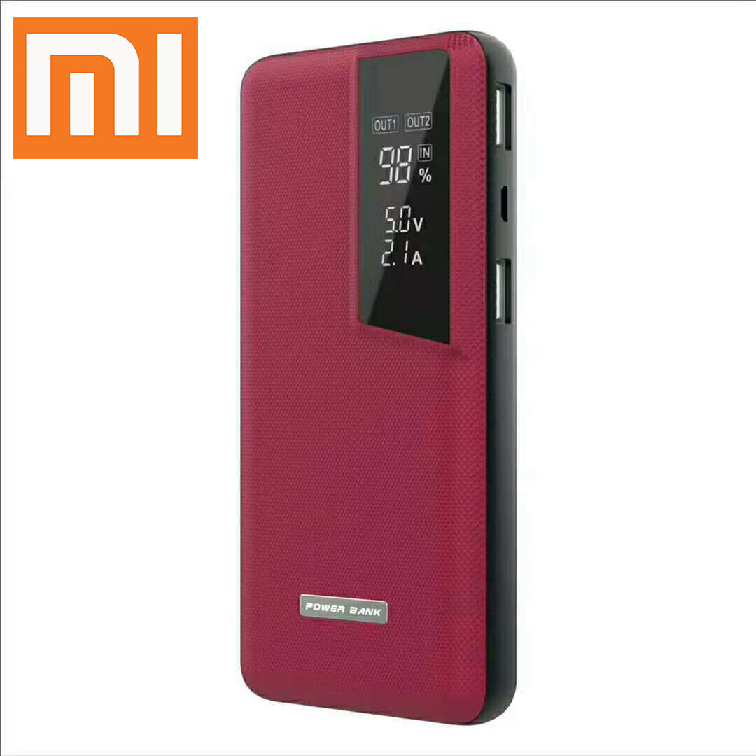 Xiaomi Power Bank Business Portable Charger Dual USB Mi Powerbank QC3.0 External Battery Leatherwear Buy 2 Get 10% Off Drop Ship image