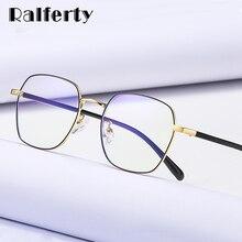 Ralferty męskie okulary blokujące niebieskie światło komputerów rama mężczyźni kobiety krótkowzroczność oprawki do okularów Zero Square 2020 okulary przeciwodblaskowe do komputera