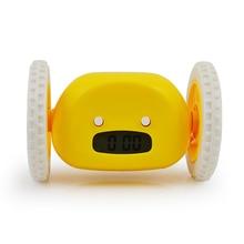 Alarm-Clock Wheels Heavy-Sleeper Moving Extra-Loud Bedroom Run-Away with Backlit
