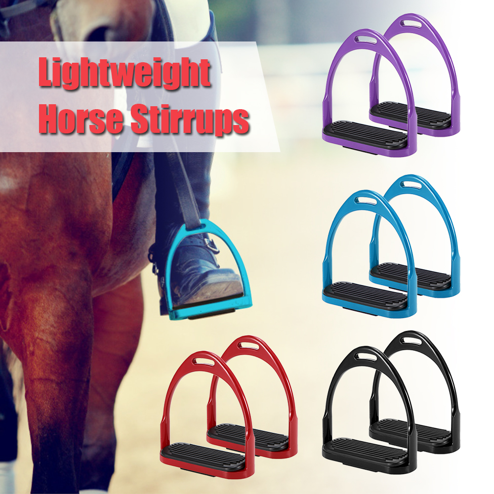 Horse Riding Stirrups Flex Aluminum Horse Saddle Anti-skid Horse Pedal Equestrian Safety Equipment