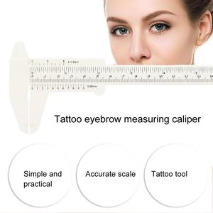 Image 2 - 3PCS TATTOO ไม้บรรทัด Eyebrow Eye brow วัด BALANCE EXTENSION รูปทรงไม้บรรทัด Stencil Eye TATTOO Vernier Caliper แม่แบบ