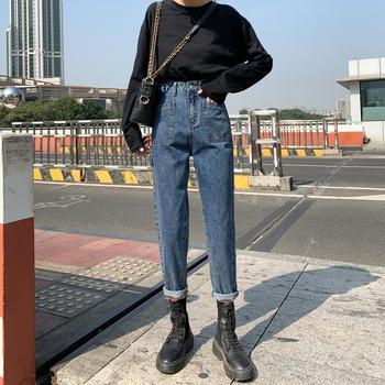 Slim Jeans For Women Skinny Jeans Woman Blue Denim Pencil Pants Stretch Full Length Blue Pants denim Jeans plus size high waist stretch pencil skinny jeans woman full length denim pants casual washing trousers for women blue gray black