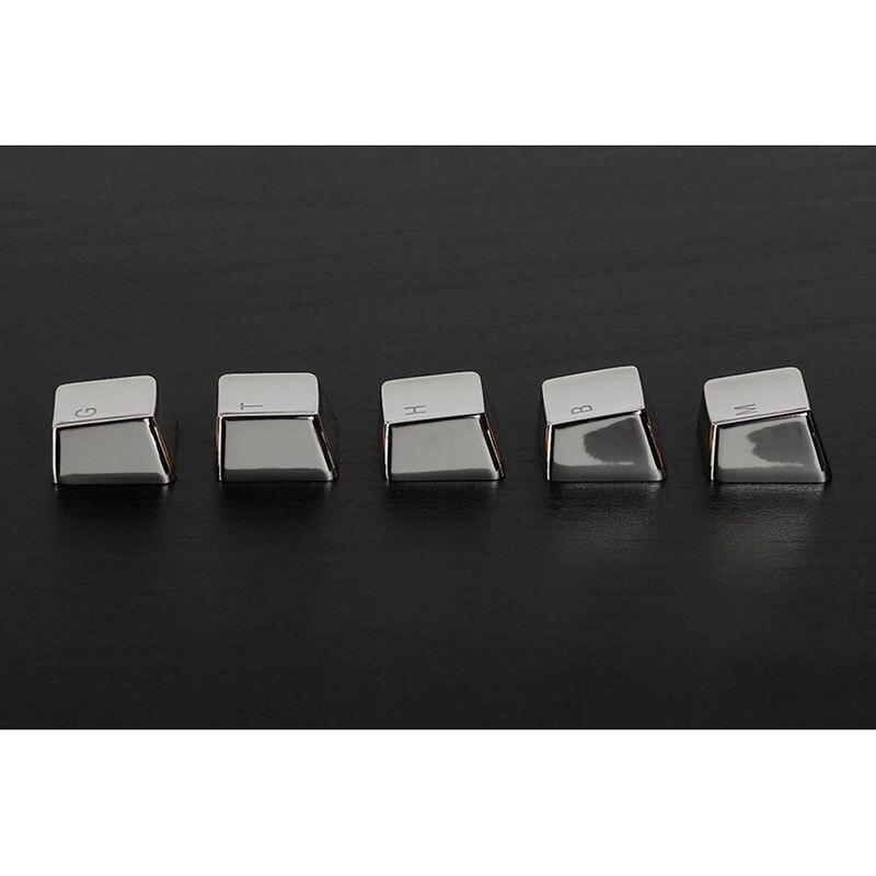 שנאים וספקי כוח שרי פרופיל MX ZINC זהב או כסף keycaps 37 מקשים התאמה אישית של המקלדת מכני סגסוגת אלומיניום מפתח קאפ Gh60 87 104 Gaming (5)