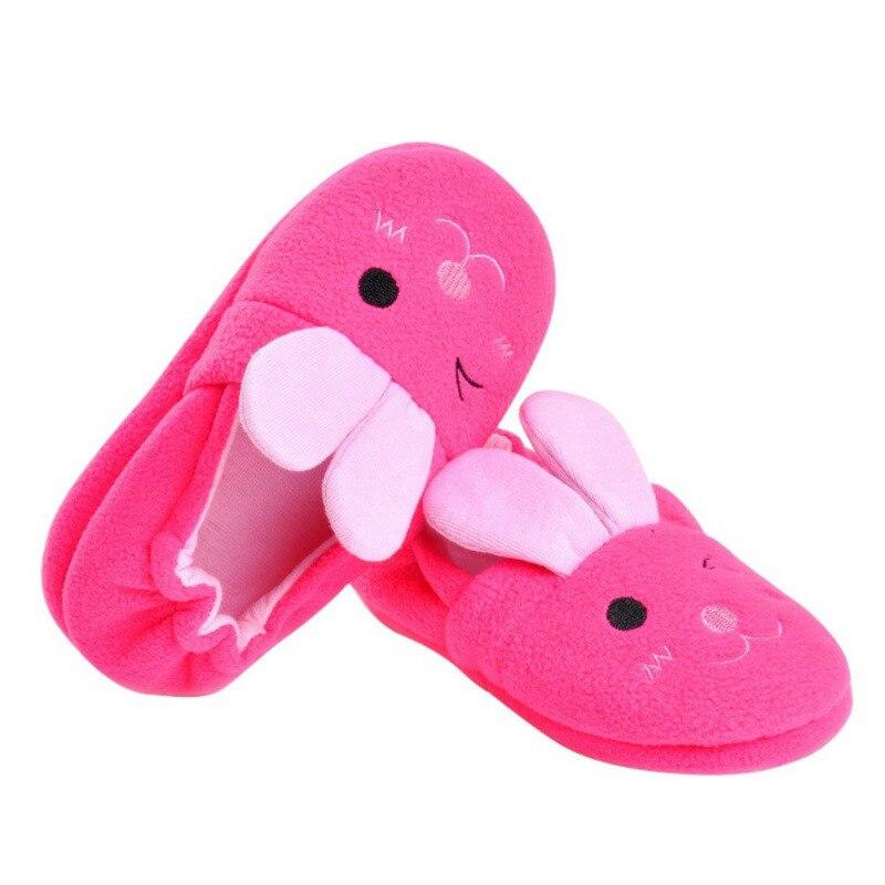 Bobora Brand  Rabbit Ears Children Cotton Slippers Home Indoor Anti Slip Baby Plastic Cartoon Slippers Sx1